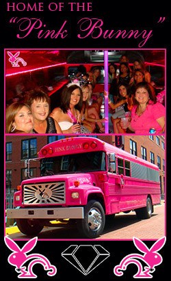 Pink Bunny Party Bus in Oklahoma City